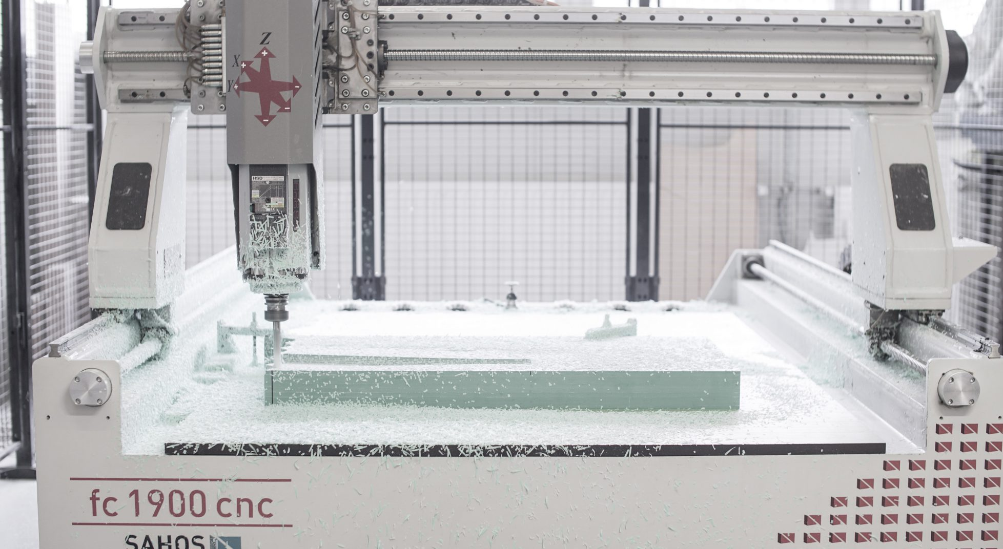 Trzyosiowa obrabiarka CNC